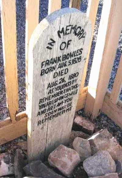 Frank Bowles Grave Site