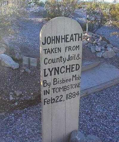 John Heath lynched by Bisbee Mob