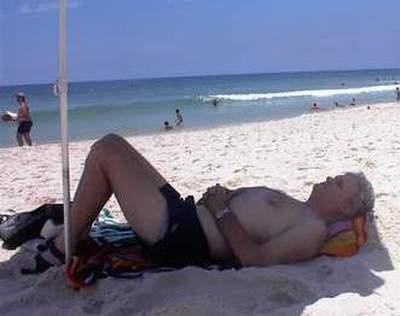 Relaxing on Barra Beach, Rio de Janeiro, Beazil