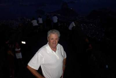 On Corcovado Mountain at night